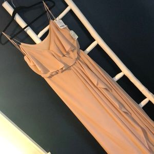 NEW Nouvelle Amsale Bridesmaid Dress N319 in Sand